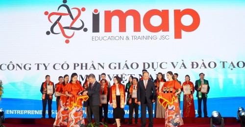 """[VNEXPRESS] - IMAP đạt danh hiệu """"Doanh nghiệp tiêu biểu dẫn đầu ngành Giáo dục và Đào tạo Anh ngữ"""""""