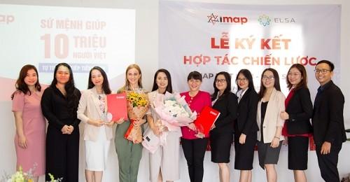 Hợp tác chiến lược IMAP Việt Nam - Elsa Speak Việt Nam