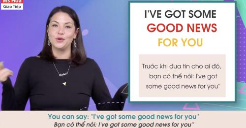 Việc thông báo và đáp lại tin tốt không chỉ dừng lại ở