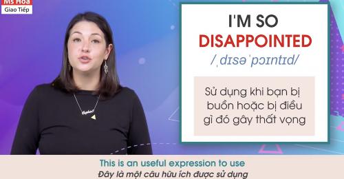 Khi muốn thể hiện sự thất vọng về điều gì đó, bạn có thể dùng các mẫu câu như