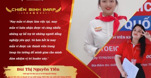 Bùi Thị Nguyên Tiên - Top tư vấn viên có doanh thu tháng cao nhất mảng TOEIC khu vực miền Bắc
