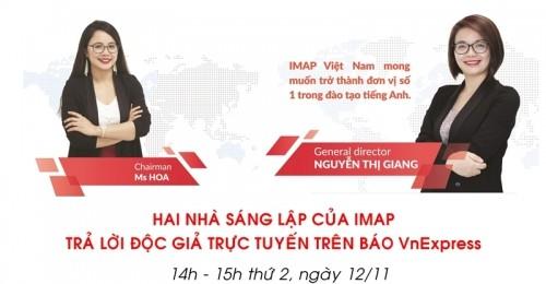 [Báo Vnexpress.net] IMAP Việt Nam đồng hành cùng Startup Việt 2018
