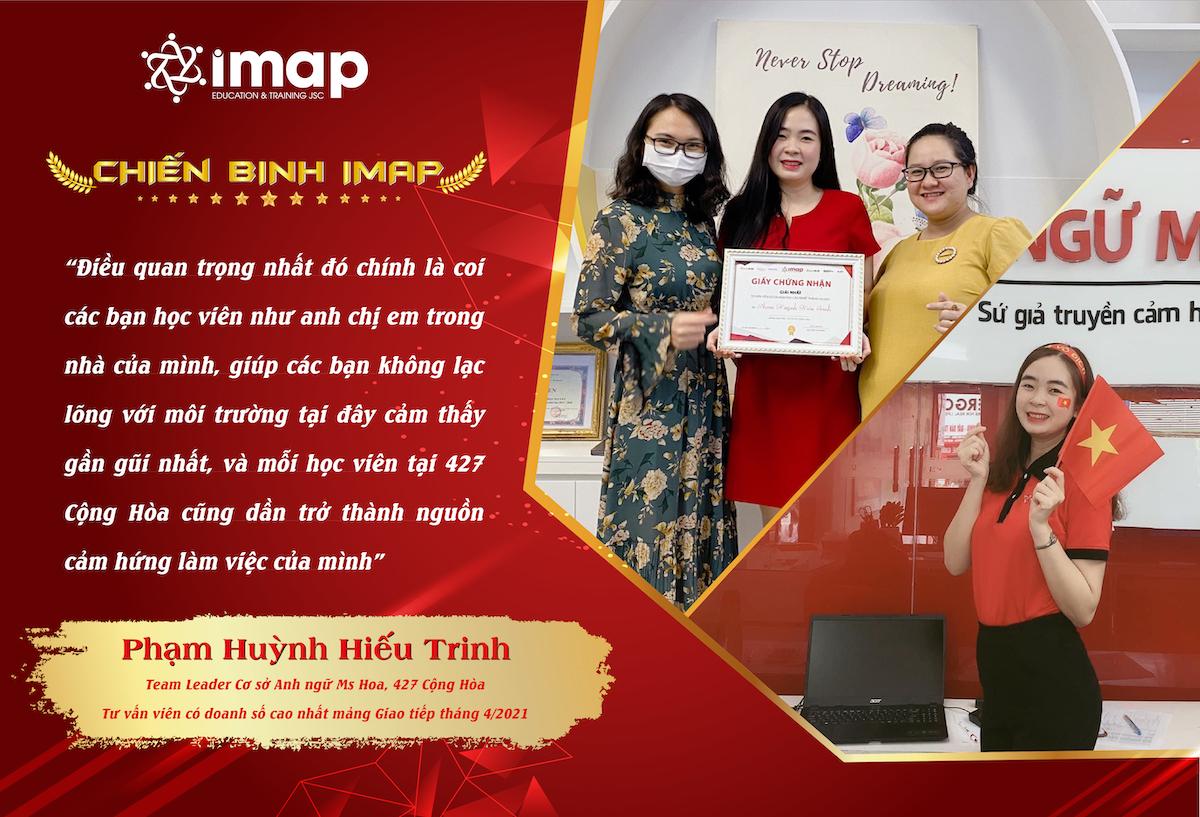 Phạm Huỳnh Hiếu Trinh - Chiến binh Tận tâm, Trách nhiệm và Nhiệt huyết của IMAP Việt Nam