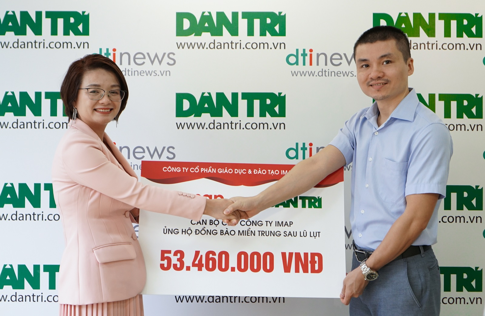 [Dantri] - IMAP tiếp sức đồng bào miền Trung tái thiết cuộc sống sau bão lũ