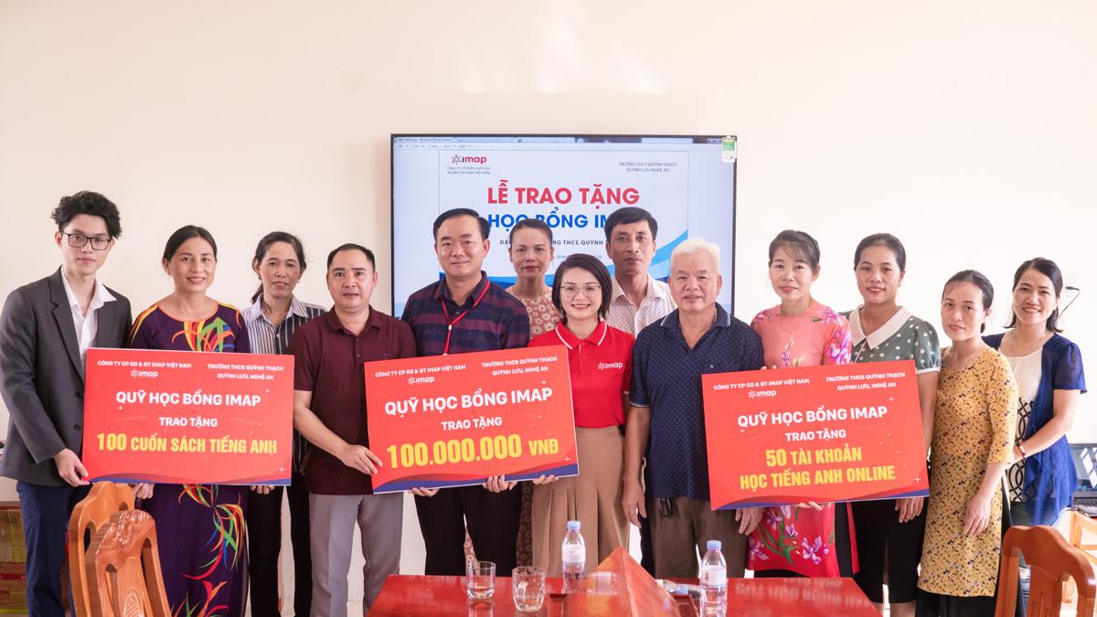 [GD&TĐ] Quỹ học bổng IMAP trao tặng 150 triệu đồng xây dựng thư viện tại Quỳnh Lưu, Nghệ An