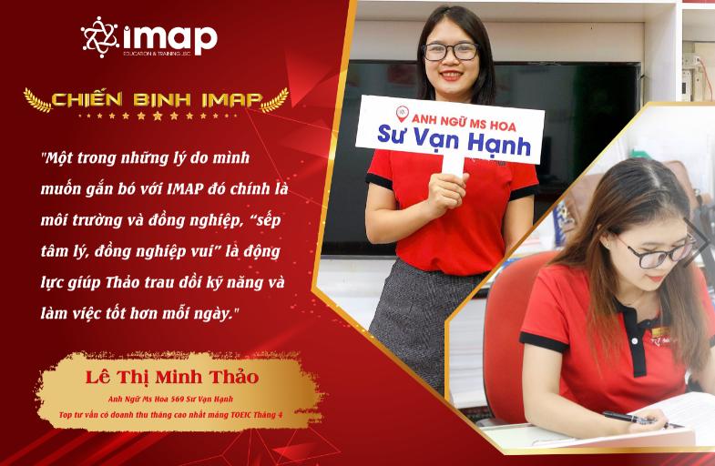 Lê Thị Minh Thảo -  Top tư vấn có doanh thu tháng cao nhất mảng TOEIC khu vực miền Nam