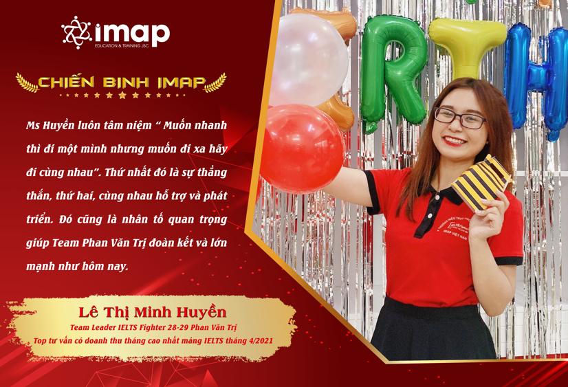 Lê Thị Minh Huyền - Top tư vấn có doanh thu tháng cao nhất mảng IELTS tháng 4/2021